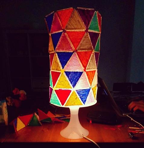 Faraz's amazing 3Doodled lamp shade!