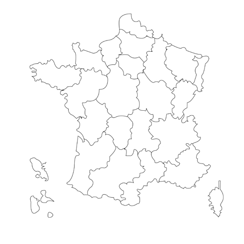 France Map Png.Map Of France The 3doodler Edu