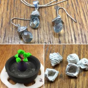 Amethyst Briolette Earrings 3Doodled Jewelry