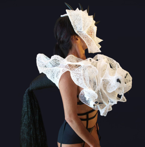 Forms Organic Wearable Sculpture 3Doodler Fashion Model Side Shot