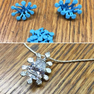 Splatter Pendant 3Doodled Jewelry