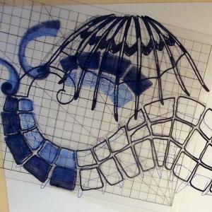 Seahorse Doodle in Progress