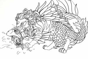 Sea Lion Doodle Concept Art