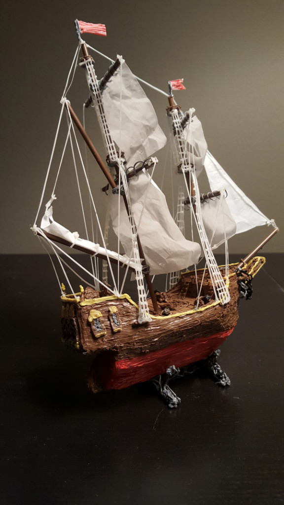 Paul Mahoney 3Doodler Awards Pirate Ship Mixed Media Winner