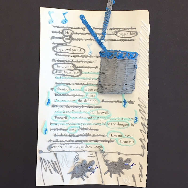 doodled blackout poetry composing poetry reading and writing